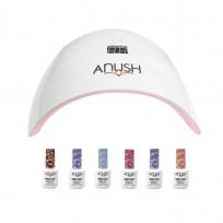 6 Esmaltes Semipermanentes Anush + Cabina Beauty Nail Lamp