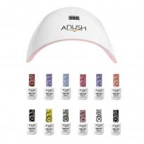 12 Esmaltes Semipermanentes Anush + Cabina Beauty Nail Lamp