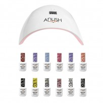 12 Esmaltes Semipermanentes Anush + Cabina Beauty Nail Lamp