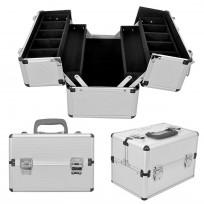 Maletín Portaherramientas Profesional Aluminio Plateado HE03 Fortex