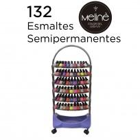 Exhibidor de 6 Bandejas Completo con Esmaltes Semipermanentes Meliné