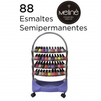 Exhibidor 4 Bandejas Completo con Esmaltes Semipermanentes Meliné