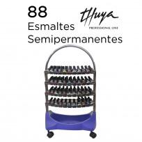 Exhibidor 4 Bandejas Completo con Esmaltes Semipermanentes Thuya